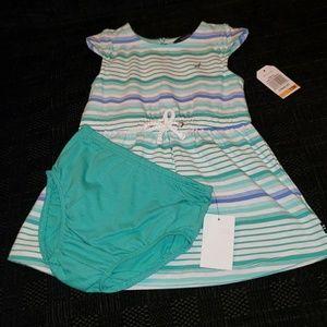 Nautica Dresses - NWT Cute 2pc Nautica Dress for Baby Girl